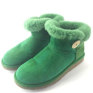 UGG Emerald Green 3352 Mini Button Bailey Boots